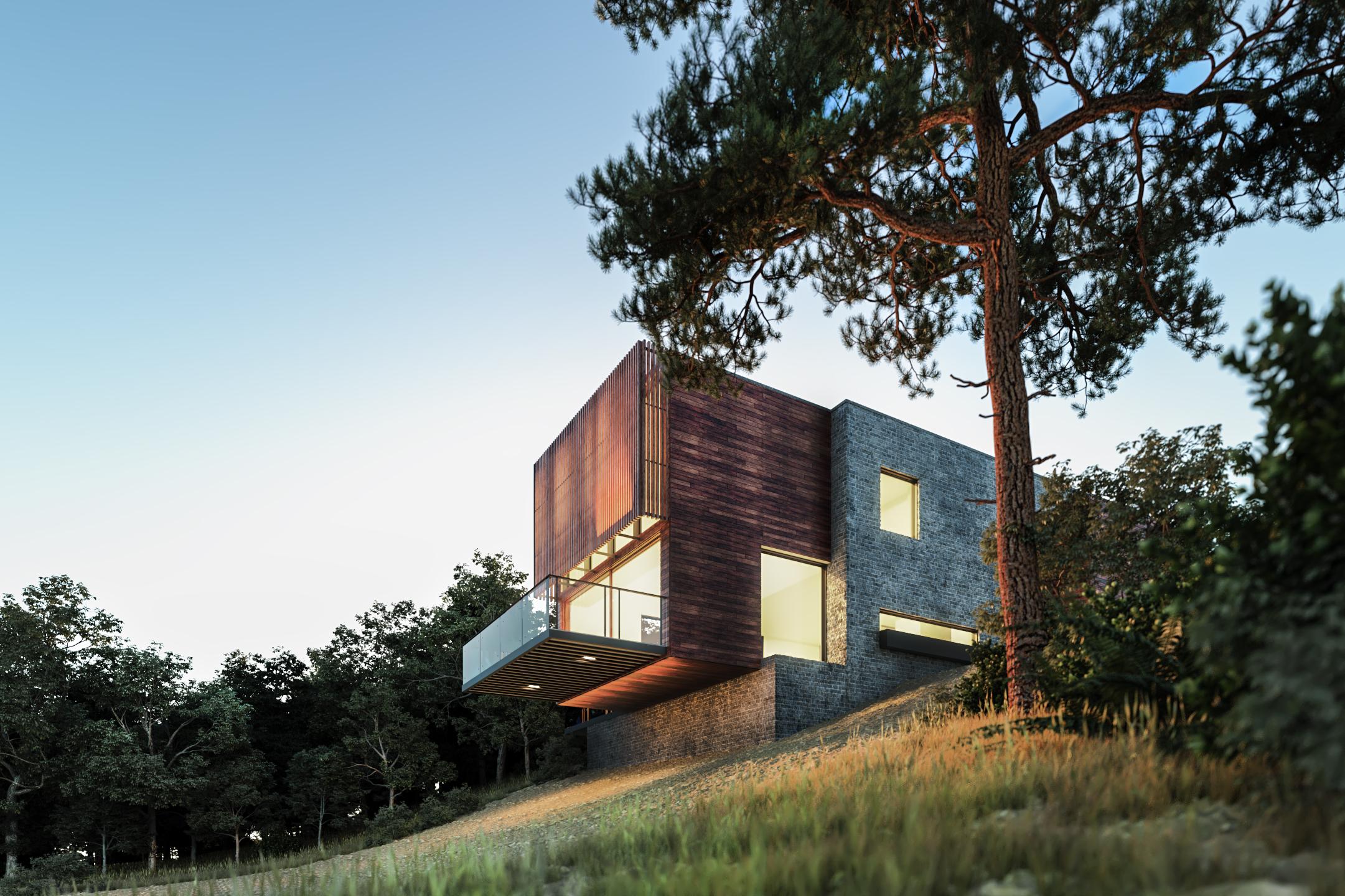 3D edificación y exterior