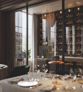 Render mobiliario restaurante