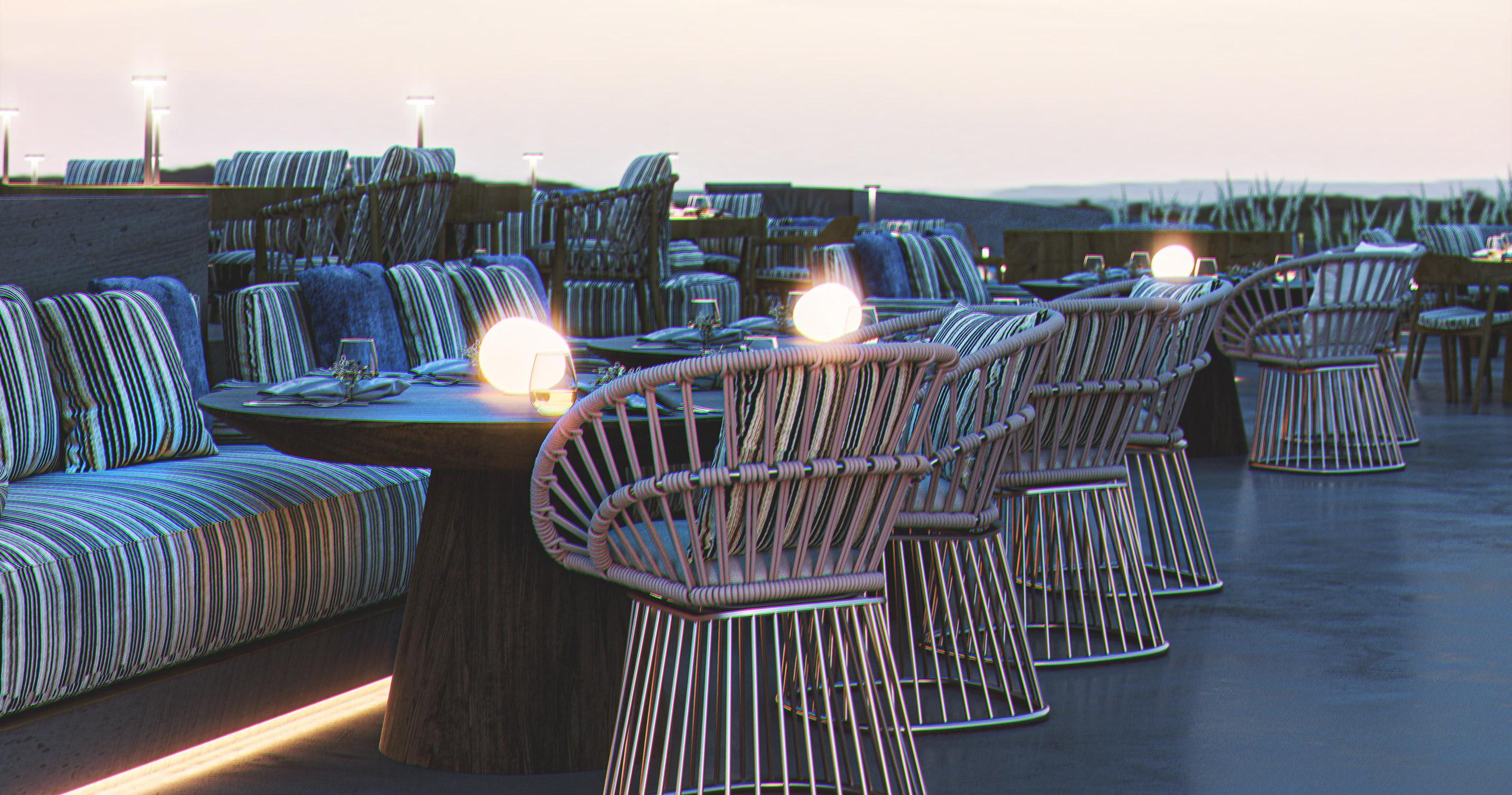 render 3D terraza